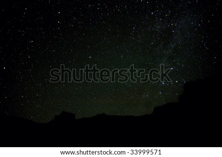 The stars in the sky - stock photo