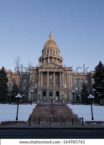 The state capitol building in Denver, Colorado. - stock photo