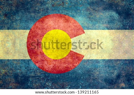 The State flag of Colorado, USA in distressed format - stock photo