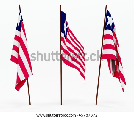 The state flag of Liberia. On white background