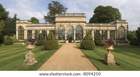 The stately home of Castle Ashby, Northamptonshire, Midlands, England, UK. - stock photo