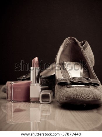 The Statement of a Fashion Model Concept - stock photo