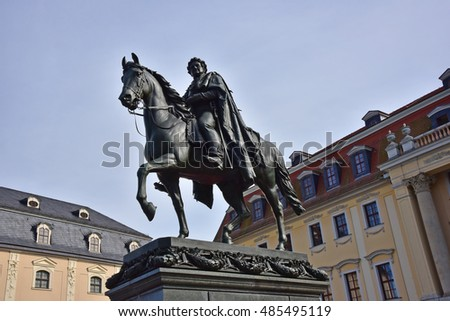The statue of Karl August ,Grand Duke of Saxe-Weimar-Eisenach in Weimar, Germany