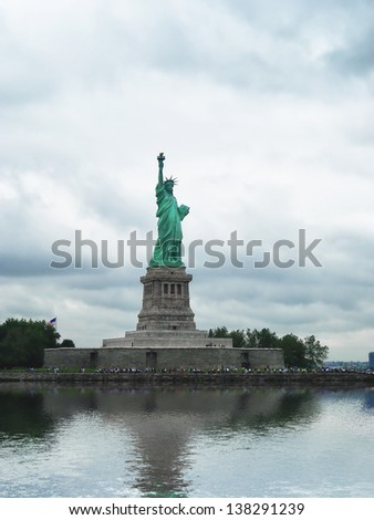 The Statue of Liberty, a gift to the United States from the people of France. - stock photo