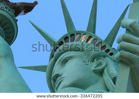 The Statue of Liberty,America,American Symbol,United states,New York,LasVegas,Guam,Paris - stock photo
