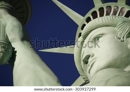 The Statue of Liberty,America,American,United states,Manhattan,Las Vegas,Paris,Guam - stock photo