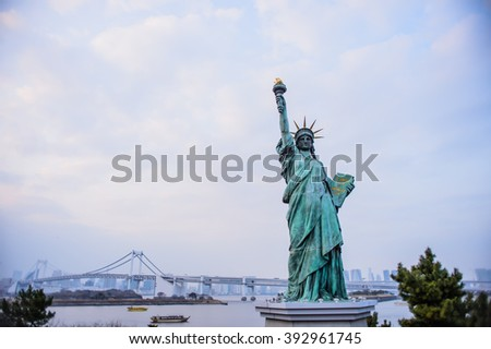 The Statue of Liberty at New York City.
