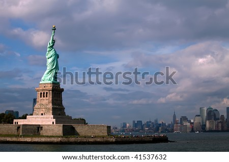 The Statue of Liberty in New York City - stock photo