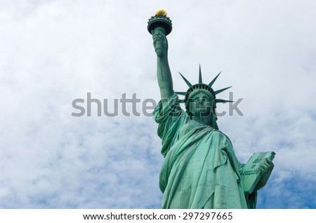 The Statue of Liberty in New York City, United States - stock photo