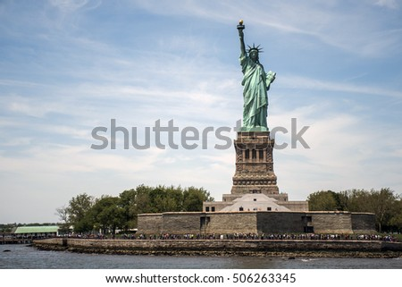 The Statue of Liberty in New York Skyline Monument 5