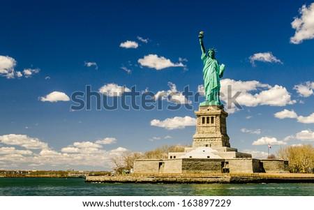 The Statue of Liberty, New York, USA, America - stock photo