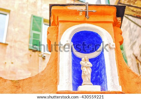 The statue of Virgin Mary - stock photo