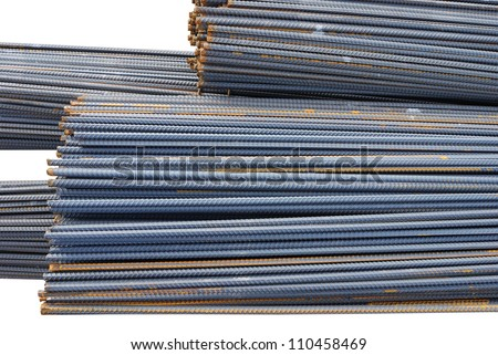 The steel bars used in construction - stock photo