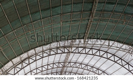 the steel frame of roof is nice architecture