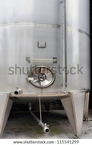 the steel  industrial wine cistern - stock photo