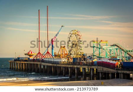The Steel Pier at Atlantic City, New Jersey. - stock photo