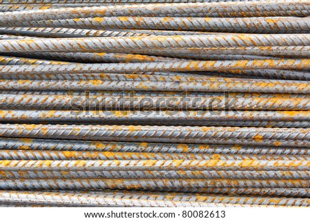 The steel used in construction background texture - stock photo