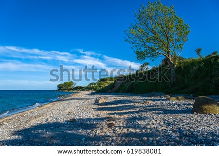 The steep coast in Staberhuk, Fehmarn, Baltic Sea, Schleswig-Holstein, Germany, Europe