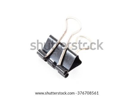 The sticky black paper on a white background. Equipment for office - stock photo
