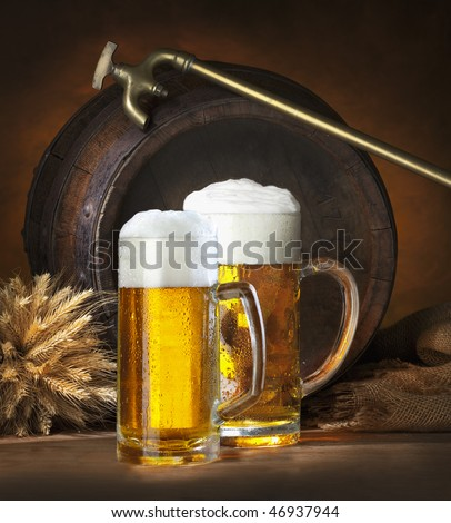 the still life with beer