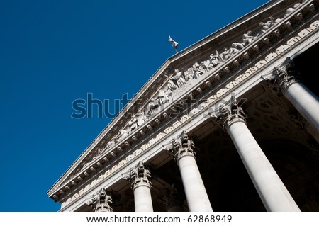 The Stock Exchange in London, UK. - stock photo