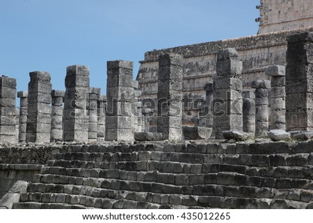 the stone ruins of the Mayan cities