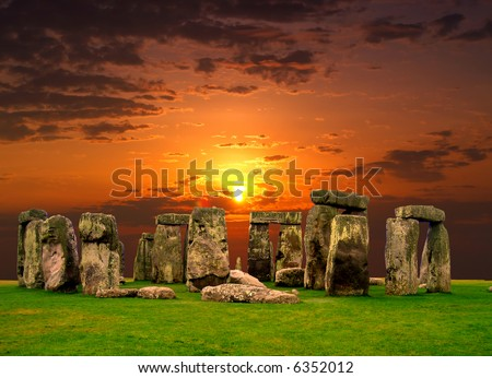 The Stonehenge in UK, it is still a mystery - stock photo