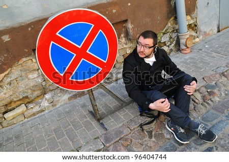 The stop is forbidden - stock photo