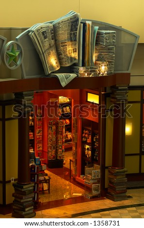 The store front of a bookstore. More with keyword Series006. - stock photo