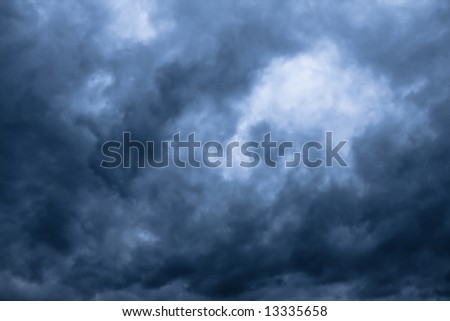 The storm clouds - stock photo