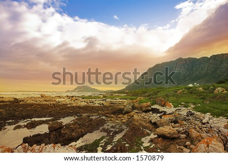 The storm has passed - Rocky Beach, Betty?s bay - Western Cape, South Africa - stock photo