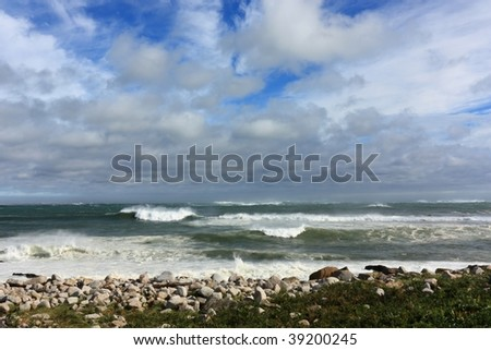 The storm passes - stock photo