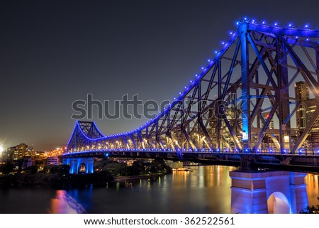 The Story Bridge across the Brisbane River - stock photo