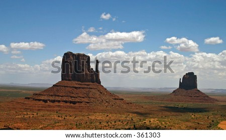 The Storytellers at the Navajo Nation's Monument Valley, Utah - stock photo