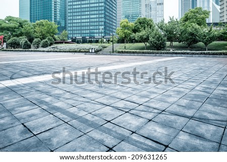 The street in Shanghai, China - stock photo