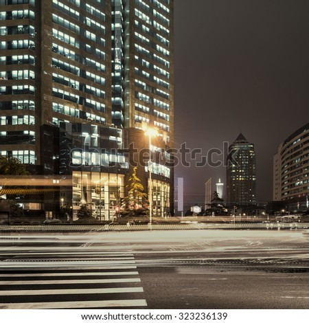 the street scene of the city in china - stock photo