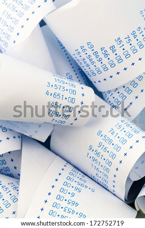 the stripes of a calculator. symbolic photo for costs, planning, costing, profit and revenue - stock photo