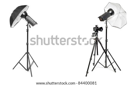 The Studio. Picture with empty room for your text or image. - stock photo