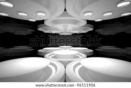 The stylish interior of the restaurant - stock photo