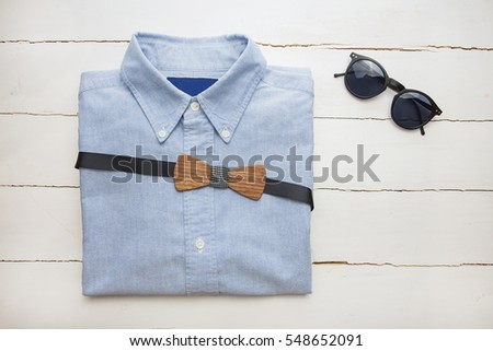The stylish shirt, tie butterflies, glasses, vintage style, MEN'S LOOK