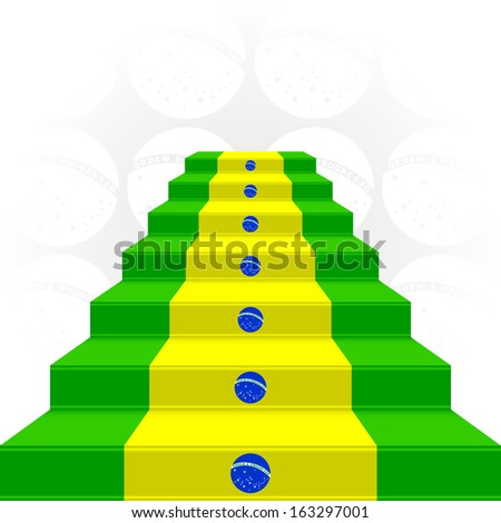 The stylized ladder on a light background. Flag of Brazil. EPS version is available as ID 155130422. - stock photo