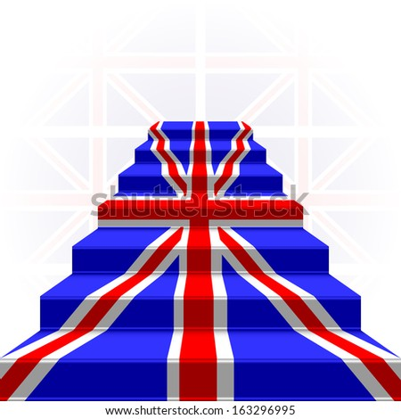 The stylized ladder on a light background. Flag of Great Britain. EPS version is available as ID 155130416. - stock photo