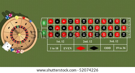 The subjects necessary in any casino, are shown on the image.