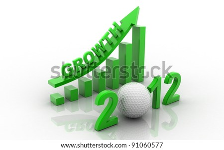 The successful business graph in the business in 2012 - stock photo