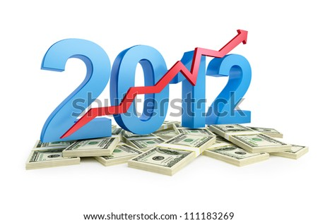 the successful growth of profits in the business in 2012 - stock photo