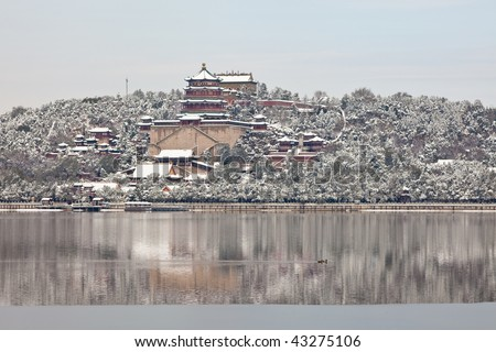 The Summer Palace in the snow - stock photo