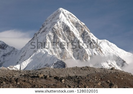 the summit of makalu, nepal. - stock photo