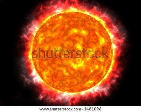 The sun - stock photo