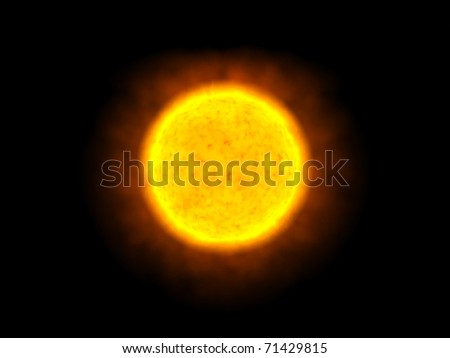 The Sun alone in space - stock photo