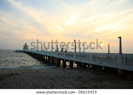 the sun and the pier